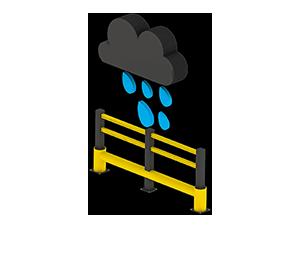 Les avantages des barrières amortissantes - Pas de corrosion - Barrieredeprotection.fr