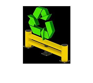 Les avantages des barrières amortissantes - Recyclable et faible empreinte écologique - Barrieredeprotection.fr
