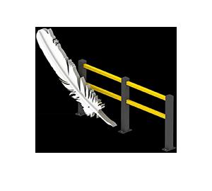Les avantages des barrières amortissantes - Une légèreté inédite - Barrieredeprotection.fr