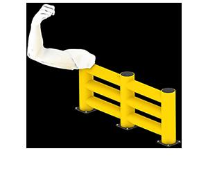 Les avantages des barrières amortissantes - Une résistance équivalente au métal - Barrieredeprotection.fr